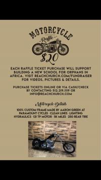 Win a 40,000 Customized Chopper to Build School!