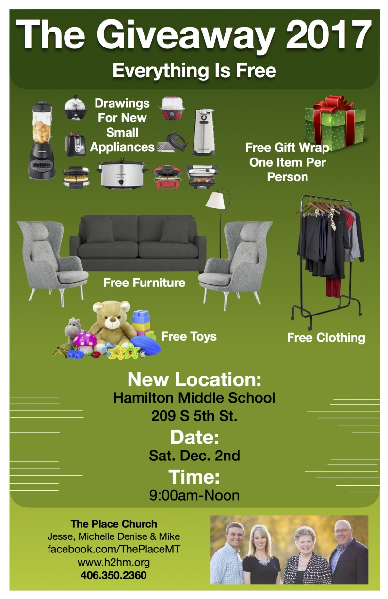 The Giveaway 2017   FREE Clothing U0026 Household Items