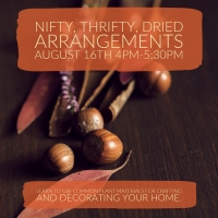 nifty, thrifty, dried arrangements