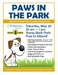 Paws in the Park Dog Fair