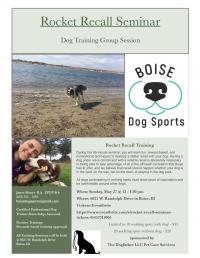 Rocket Recall Dog Training Seminar