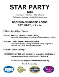 Bogus Basin Star Party 2018