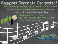 Boise Fry Co, support Serenata Orchestra