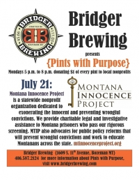 Bridger Brewing Pints with Purpose}