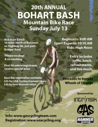 20th Annual Bohart Bash Mountain Bike Race