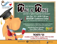 SAINT Wag and Wine Dinner and Wine Tasting Fundraiser