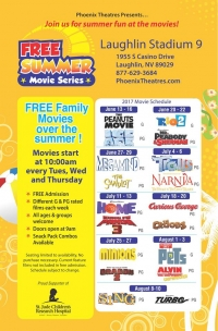 Laughlin Stadium 9 Free Summer Movie Series