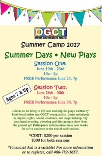 OGCT Summer Camp: Summer Days * New Plays