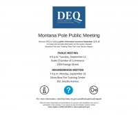 Montana Pole Superfund Site Public Meeting
