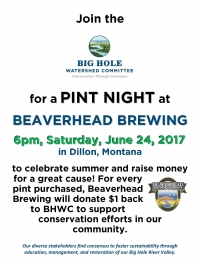 Big Hole Watershed Committee Pint Night Fundraiser