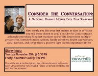 Consider the Conversation: Film Screening & Discussion