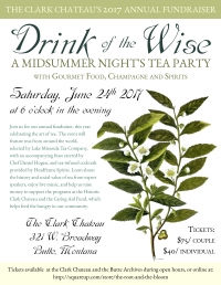 Drink of the Wise: The Clark Chateau Annual Fundraiser