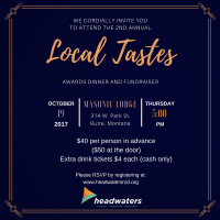 2nd Annual Local Tastes Dinner and Fundraiser