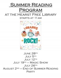 Summer Reading at the Hearst Free Library