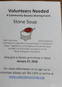Stone Soup- A community Bounty Sharing Event