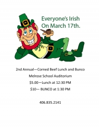 2nd Annual Corned Beef and BUNCO