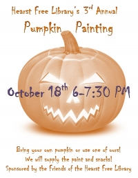Pumpkin Painting at the Hearst Free Library