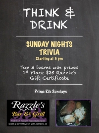 Sunday Night Trivia at Razzle's