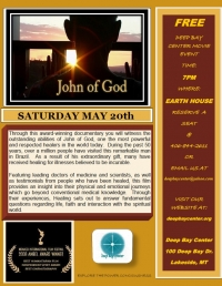 "Free Movie  ""John of God"" documentary"