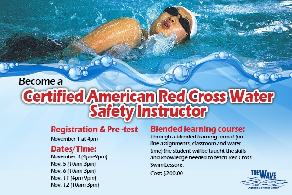 instructor cross water safety course certified american montana wave swimming event