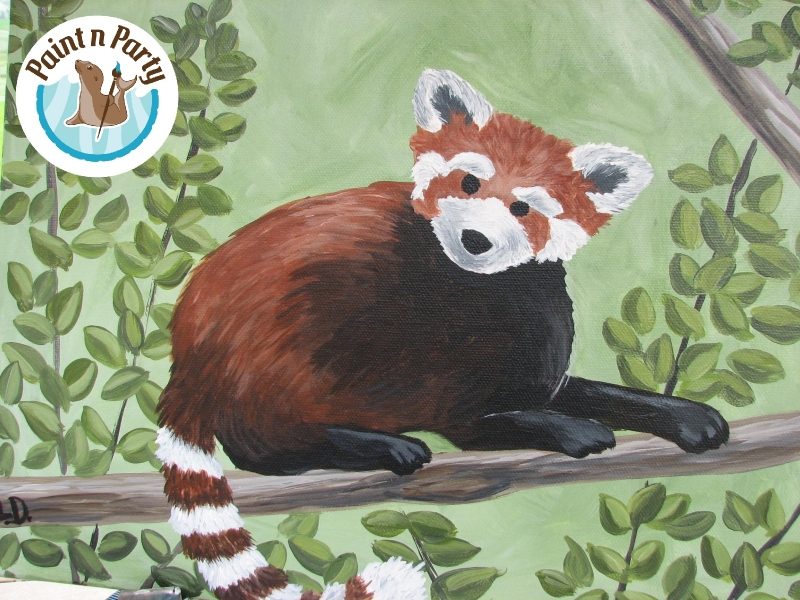Party: KIDS: RED PANDA 08/18/2015 Helena, Montana, Paint n Party ...