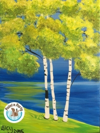 Canvas Paint n Party: Adult Paint n sip: Birch Trees