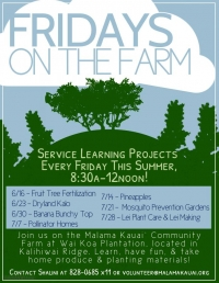 Fridays on the Farm, Mosquito Prevention Gardens
