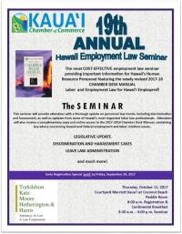 19th Annual Hawaii Employment Law Seminar