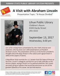 A Visit With Abraham Lincoln