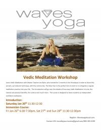 Vedic Meditation Workshop