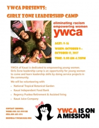 Girlz Zone Leadership Camp