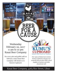Beer For a Cause Pint Night for Kumu's Cupboard