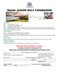 Kauai Junior Golf Tournament & Fundraiser