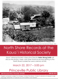 North Shore Records at the Kaua'i Historical Society