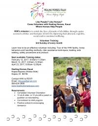 Healing Horses, Kauai Volunteer Orientation
