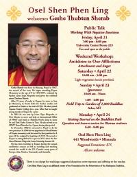 Public talk with Geshe Thubten Sherab