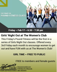 Free Pound Fitness Class at TWC Girls' Night Out
