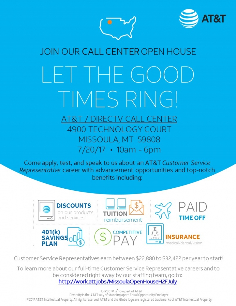 attdirectv call center open house