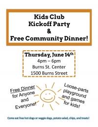 Kids Club Kickoff & Free Dinner!