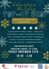 Holiday Pop-Up Shop - McGill Centraide Fundraiser Event