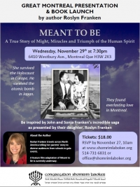 Meant to Be - Author Presentation & Book Launch