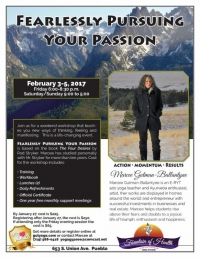 Fearlessly Pursuing Your Passion - Weekend Workshop