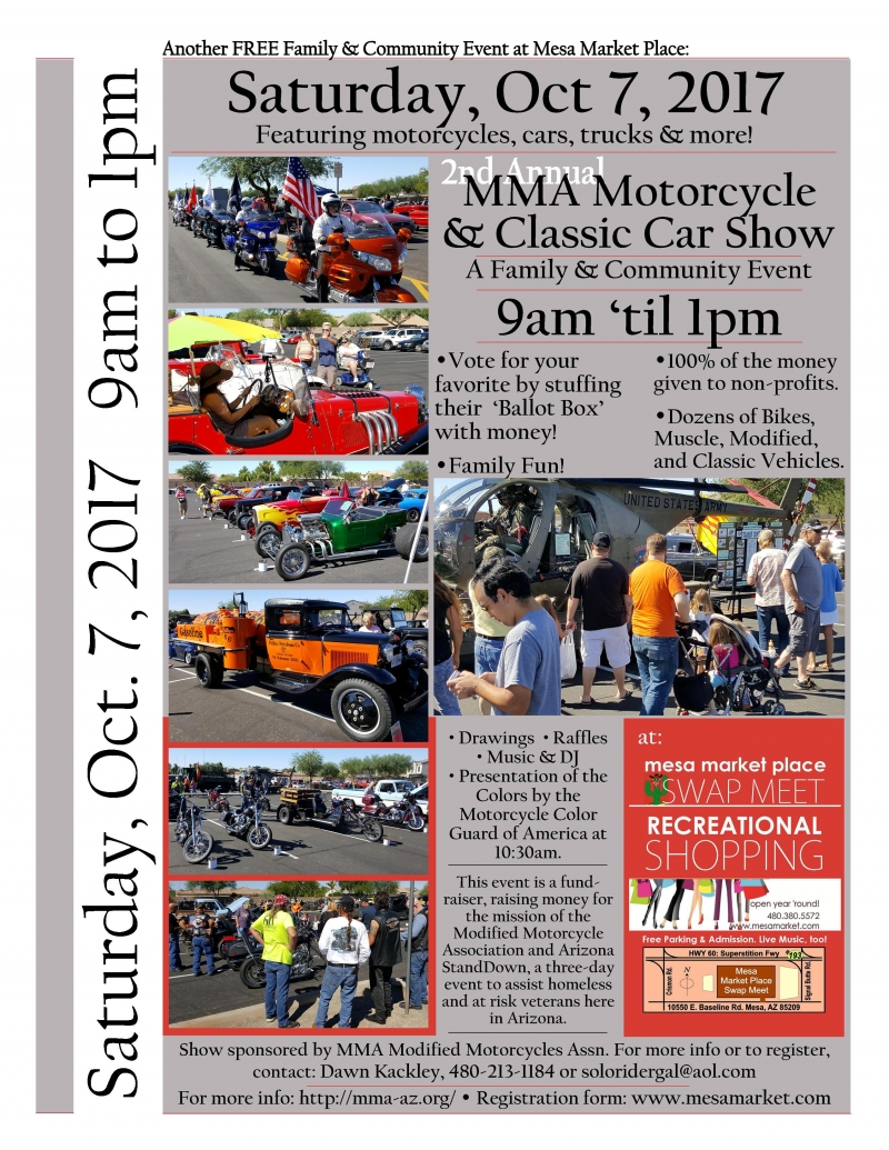 Nd Annual MMA Motorcycle And Classic Car Show Mesa - Mesa car show