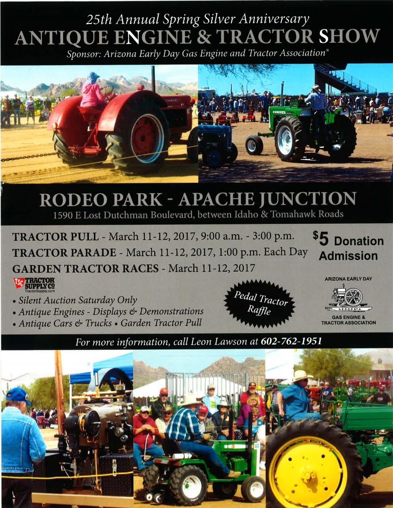 Antique Engine Tractor Show Apache Junction Arizona - Apache junction car show