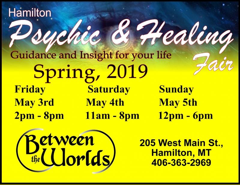 Hamilton Psychic and Healing Fair 05/03/2019 Hamilton, Montana