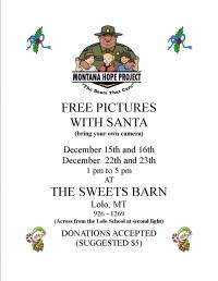 Santa at The Sweets Barn