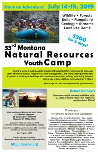 Montana Natural Resource Youth Camp