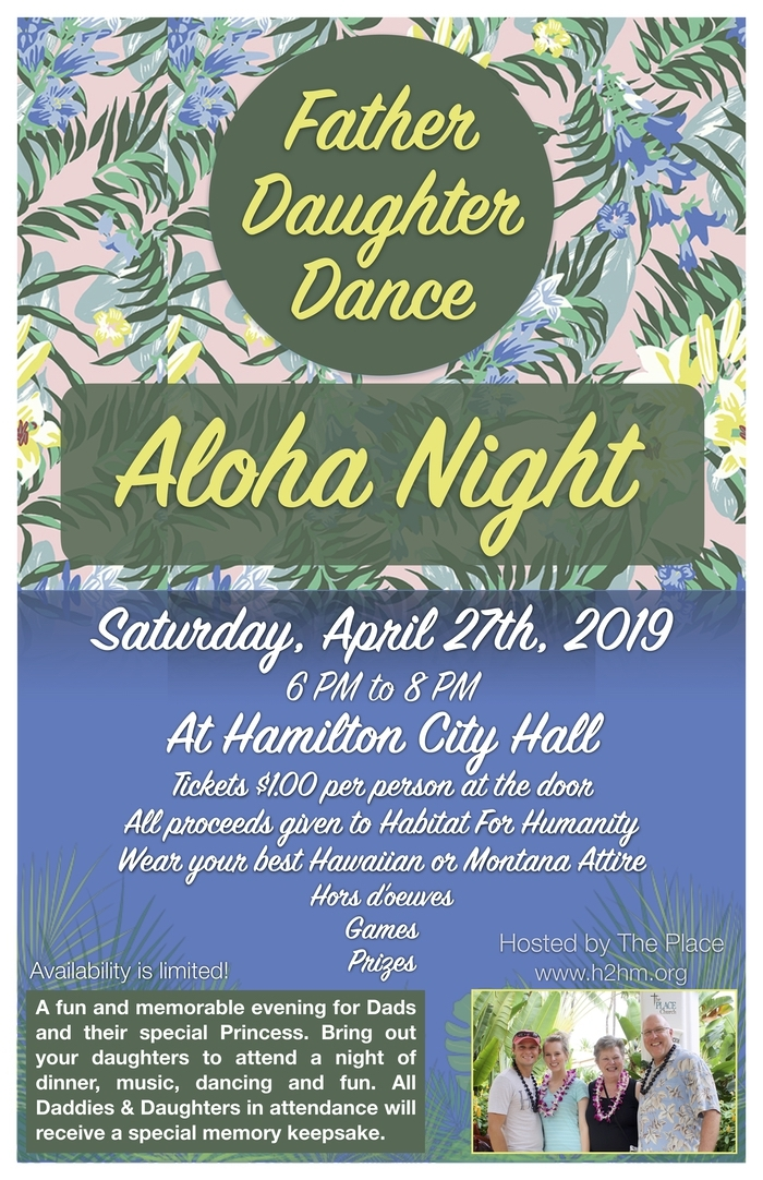 Father/Daughter Aloha Night Dance 04/27/2019 Hamilton