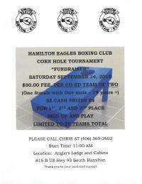 "HEBC Corn Hole Tournament ""Fundraiser"""