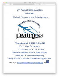 21st Annual Spring Auction